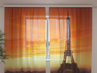 Sifonki-kuvaverho THE EIFFEL TOWER4, 240x220 cm ED-99944