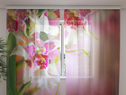 Sifonki-kuvaverho MOTTLE ORCHIDS 240x220 cm ED-99951