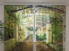Sifonki-kuvaverho GREEN ARCHWAY 240x220 cm ED-99961
