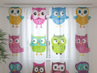 Sifonki-kuvaverho LOVELY OWL 240x220 cm ED-99990
