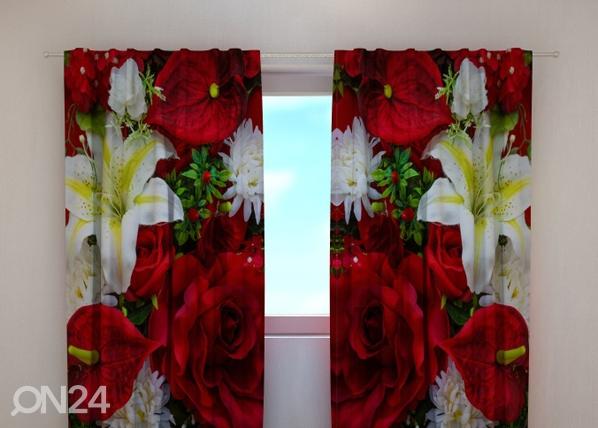 Pimentävä verho ROSES AND LILIES 240x220 cm ED-100510