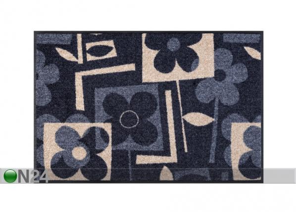 Matto FLOURISH GREY 50x75 cm A5-101710