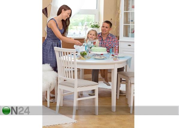 Jatkettava ruokapöytä FAMILY 105x165-215 cm, valkoinen WM-102300