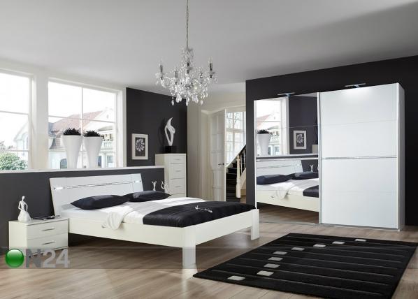 Sänky HEAVEN 160x200 cm, vaatekaappi, 2 yöpöytää SM-102868