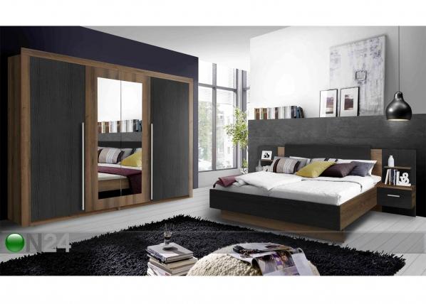 Sänky 160x200 cm, vaatekaappi, 2 yöpöytää TF-104391
