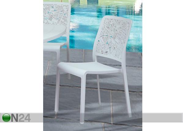 Puutarhatuoli CHARLOTTE CITY, valkoinen TE-109215
