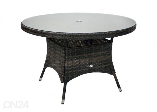Puutarhapöytä WICKER Ø 120 cm EV-110234