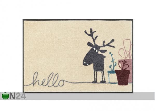 Matto HIRSCH HUGO HELLO 50x75 cm A5-110480