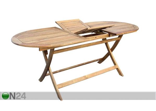 Jatkettava puutarhapöytä TOLEDO 85x140-180 cm SI-112298