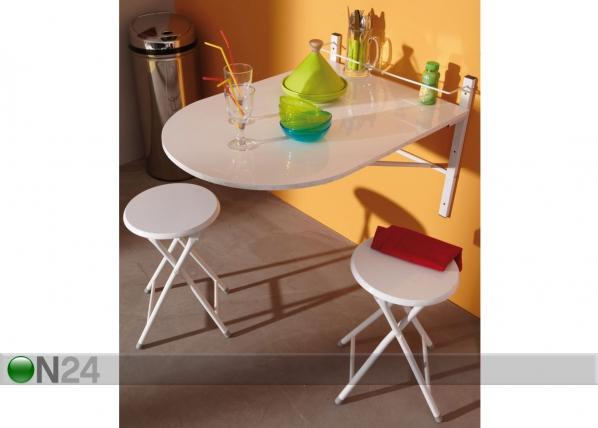 Taittopöytä ja 2 taittotuolia CM-112940