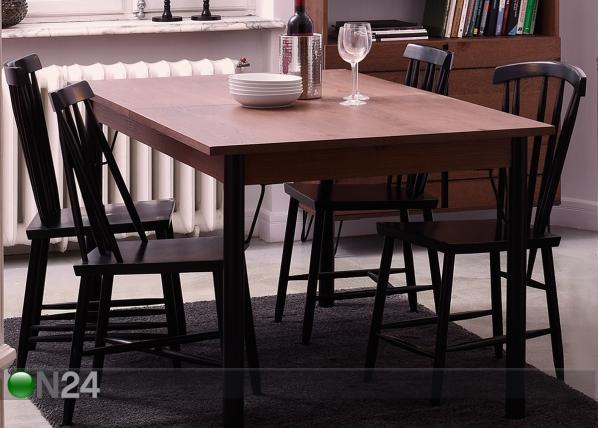 Jatkettava ruokapöytä SHEFFIELD 160-240x90 cm MA-114348