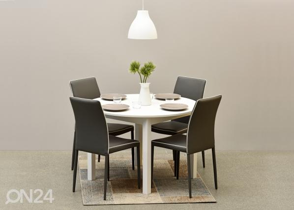 Jatkettava ruokapöytä NOVA 110-150x110 cm MA-114353