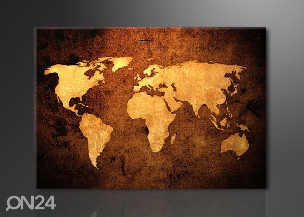 Seinätaulu WORLDMAP 120x80 cm ED-114389