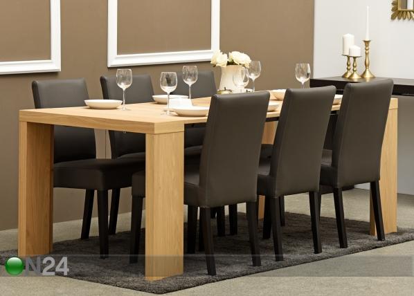 Seinäpöytä/jatkettava ruokapöytä HELENA 43-200x95 cm MA-114897