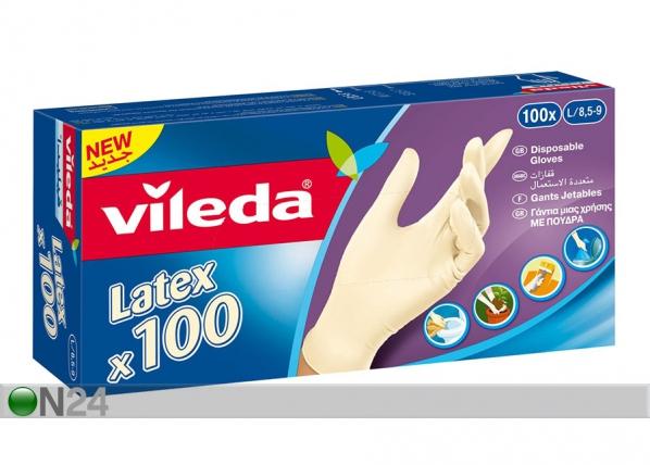 Kertakäyttökäyttökäsine VILEDA MULTI LATEX 100 kpl SY-117082