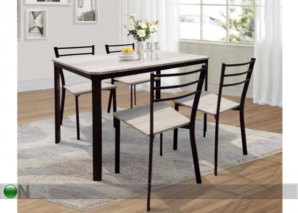 Ruokapöytä ja 4 tuolia AQ-117765