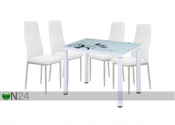 Ruokailuryhmä pöytä+4 tuolia TF-118635