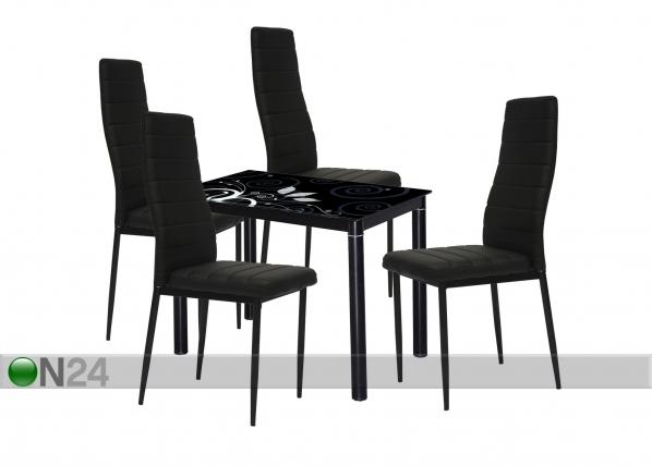 Ruokailuryhmä pöytä+4 tuolia TF-118637