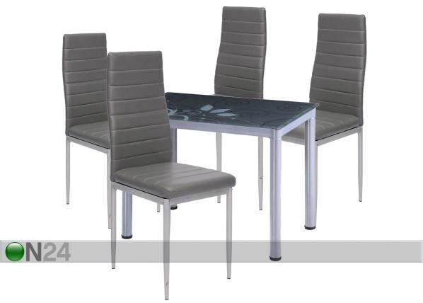 Ruokailuryhmä pöytä+4 tuolia TF-118638