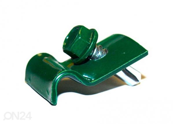 Kiinnikelangan kiinnike ja ruuvi RAL6005 6 kpl PO-119642