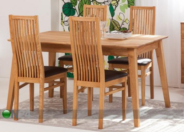 Tammi ruokapöytä GENF + 4 tuolia SANDRA EC-119703