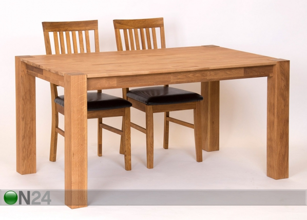 Ruokapöytä, tammi 180x90 cm RU-121917