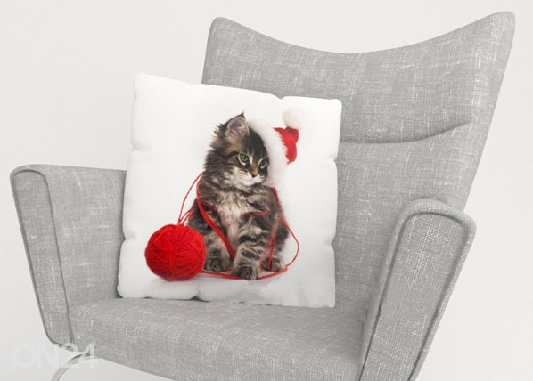 Koristetyynyliina CHRISTMAS CAT ED-122091