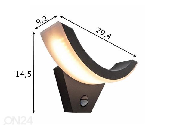 Seinävalaisin liikeanturilla OLIV LED LY-124968