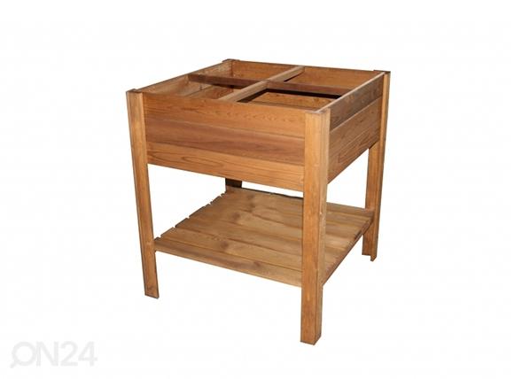 Istutuslaatikko jaloilla 80x80 cm 4 lokeroa TN-125359