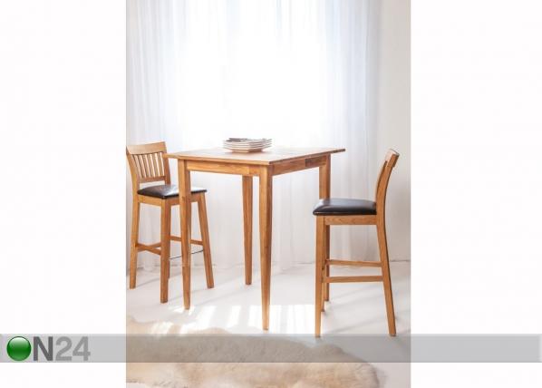 Tammi baaripöytä + 2 baarituolia EC-125611