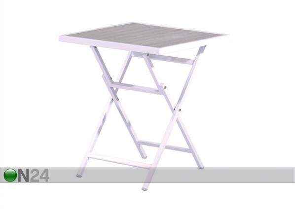 Kokoontaitettava parvekepöytä PUDONG 60x60 cm AQ-127283