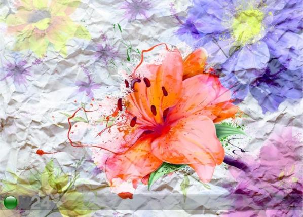 Fleece-kuvatapetti FLOWERS WITH PAPER EFFECT, 360x270 cm ED-128209