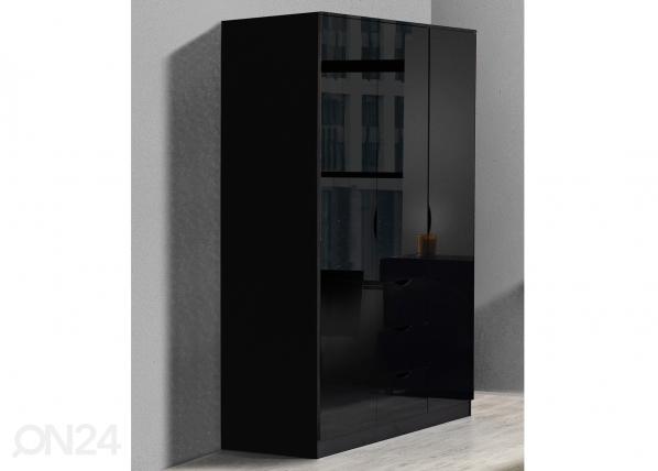 Vaatekaappi LETTY BLACK MA-130919