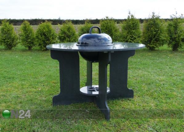 Graniitti puutarhapöytä grillillä AV-131229