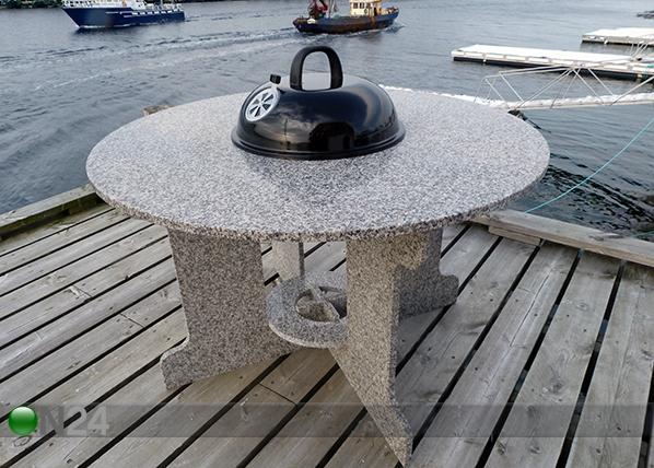 Graniittti puutarhapöytä grillillä AV-131230