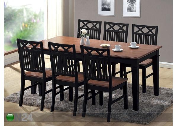 Ruokailuryhmä SEASIDE pöytä ja 6 tuolia BL-17223