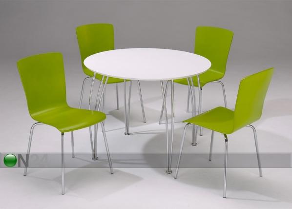 Pyöreä pöytä SANI Ø 100 cm, valkoinen BL-21559