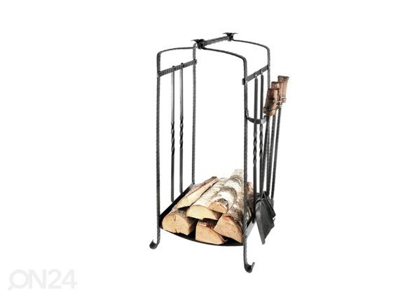 Taottu puukori+takkavälineet VE-25876