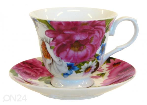 Kahvikuppi ja lautanen RUUSUNMARJA 150 ml, 6 kpl ET-32056