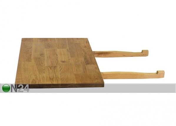 Tamminen ruokapöydän jatke GLOUCESTER 40x75 cm EV-35561
