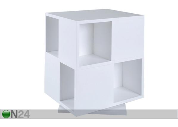 Kirjakaruselli LIBRA, valkoinen BL-36636