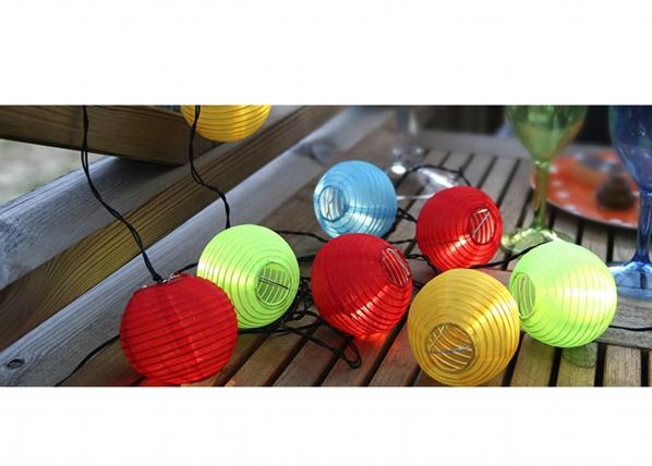 Puutarhavalaisin aurinkopaneelilla ENERGY BALLS 10 LED AA-38736