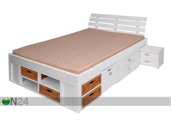 Sänky+pääty LUNIA, mänty 140x200 cm FY-39218