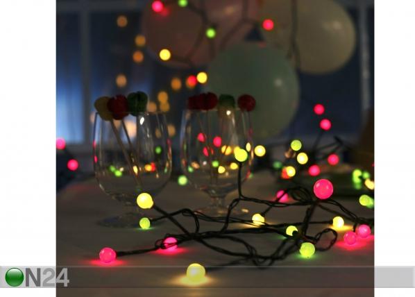Värikkäät valot PARTY 80 LED AA-39432