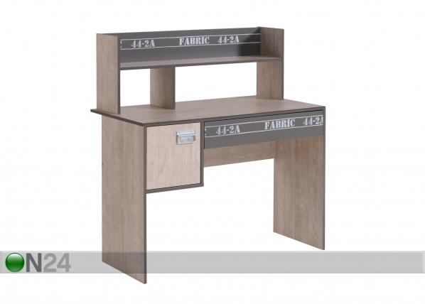 Työpöytä+pöytähylly FABRIC MA-39735