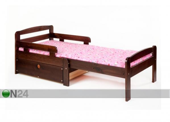 Jatkettava lastensänky + vuodevaatelaatikko KIKU VM-42044