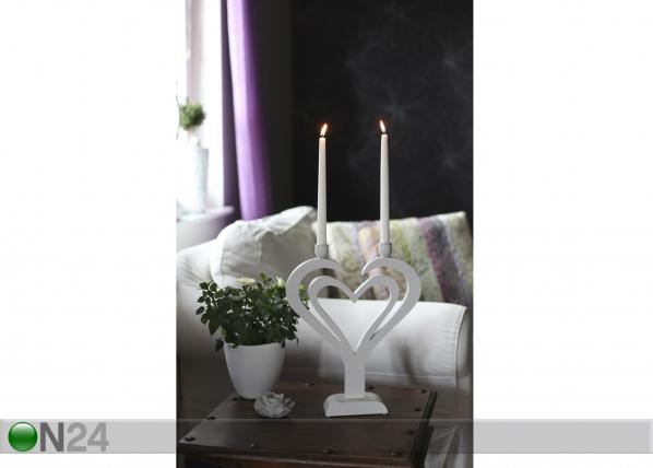 Kynttilänjalka DUO HART AA-42926