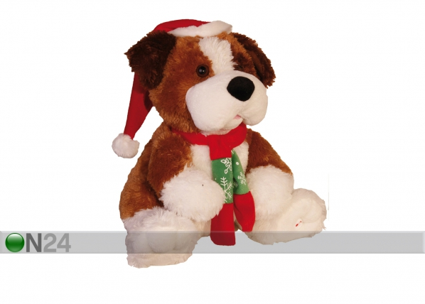 Joulukoriste istuva koiranpentu AA-43924