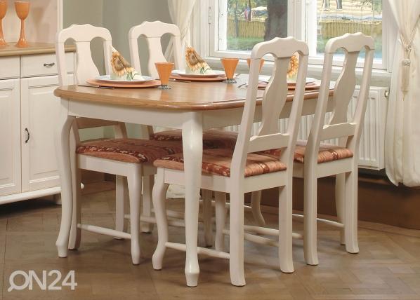 Jatkettava ruokapöytä PAROONI 90x132+42 cm LA-45519