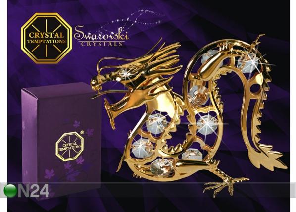 Patsas kullatuilla Swarovski kristalleilla LOHIKÄÄRME MO-47023